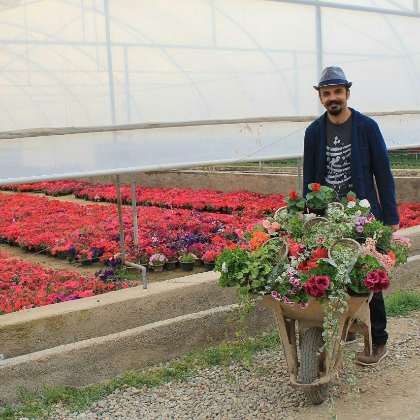Davoud Shirazi loves nature and flowers