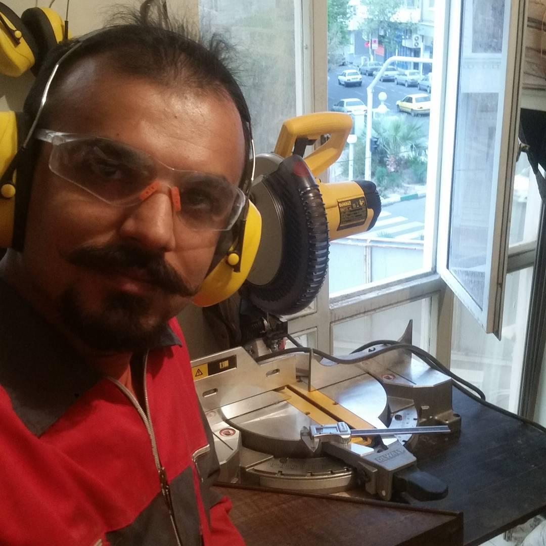 Davoud Shirazi is making santoor