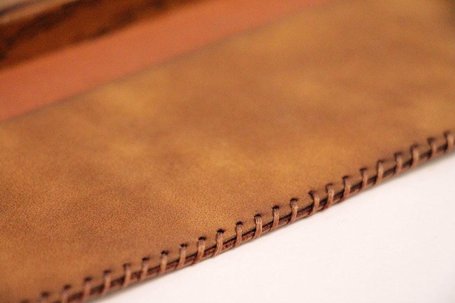 کیف مضراب چرمی رنگ قهوهای